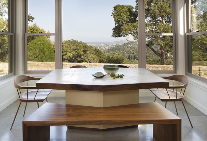 Marin residence kitchen table